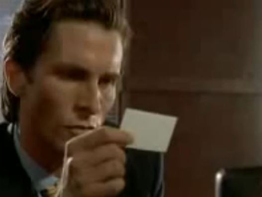 American Psycho Business Card Scene
