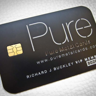 matte black metal business cards Archives PURE METAL CARDS
