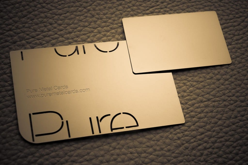 Mini metal business card by Pure Metal Cards