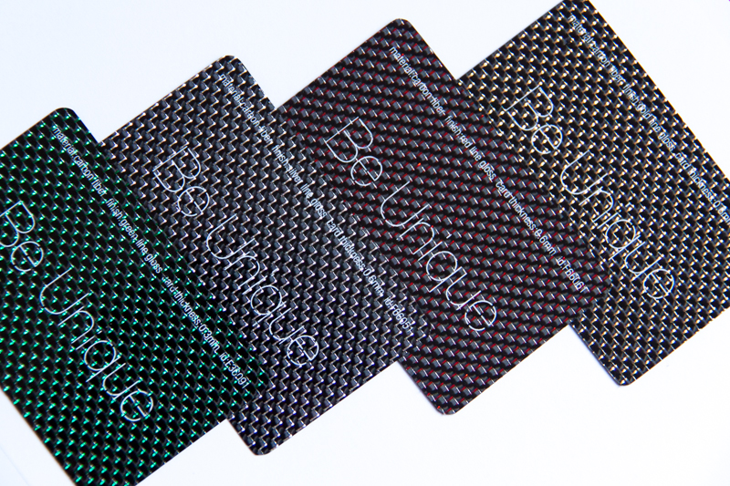 Pure Metal Cards - carbon fiber business cards