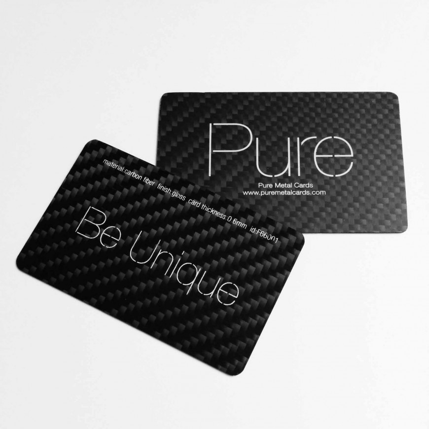 Racing Ahead Of The Pack With Carbon Fiber Business Cards