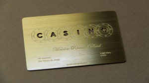 Pure Metal Cards Casino Card