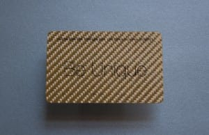 Pure Metal Cards gold fiber glass business card