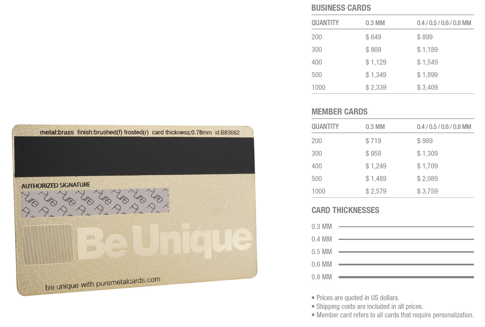 Brass-(Gold)-Frosted-Cards-Pricing-Table