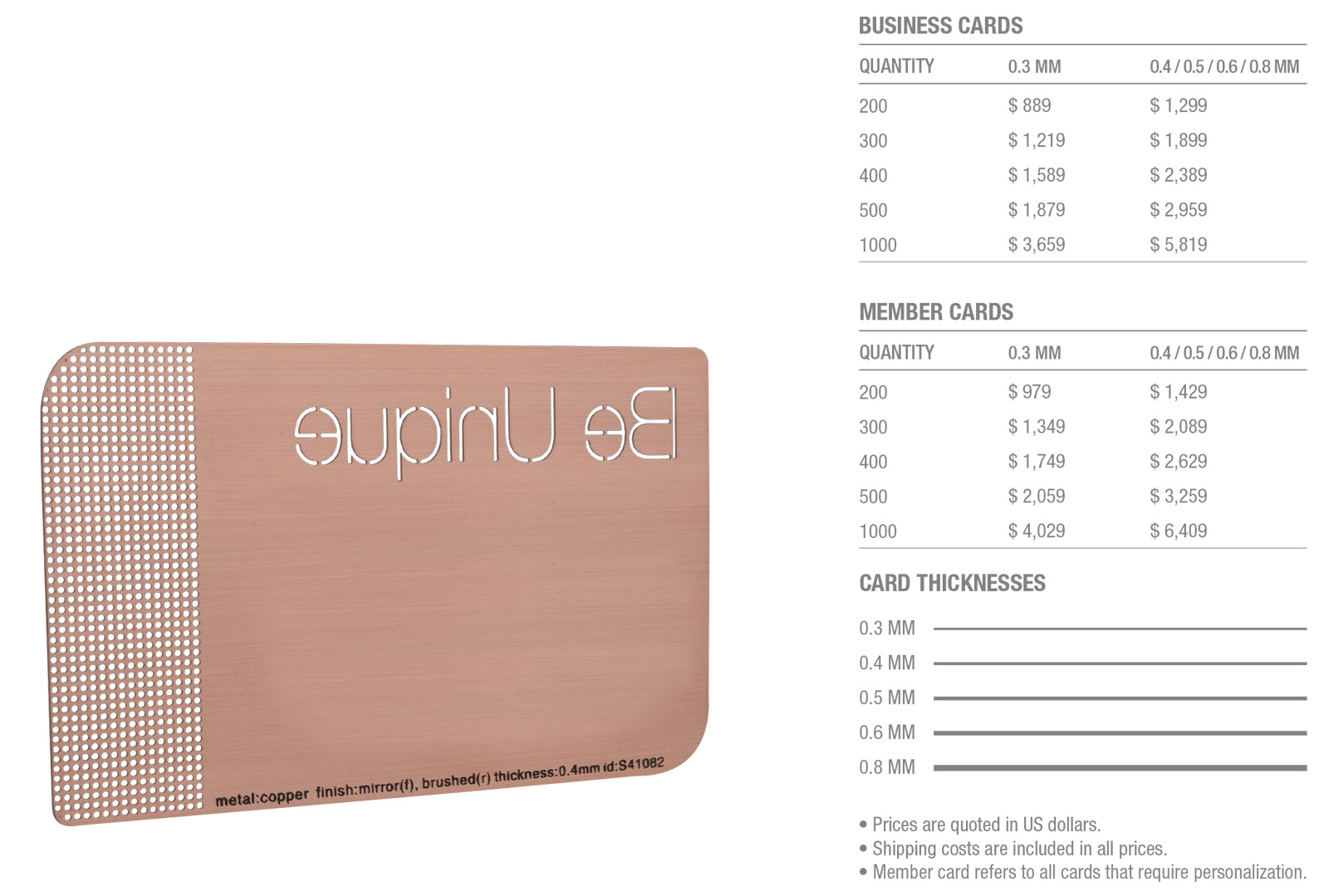Copper-Brushed-Cards-Pricing-Table