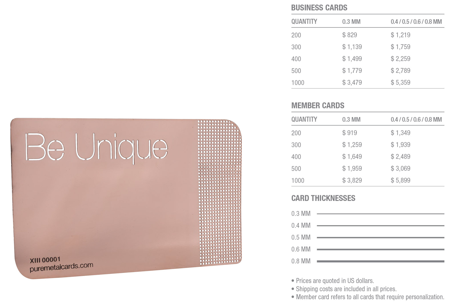 Copper-Mirror-Cards-Pricing-Table