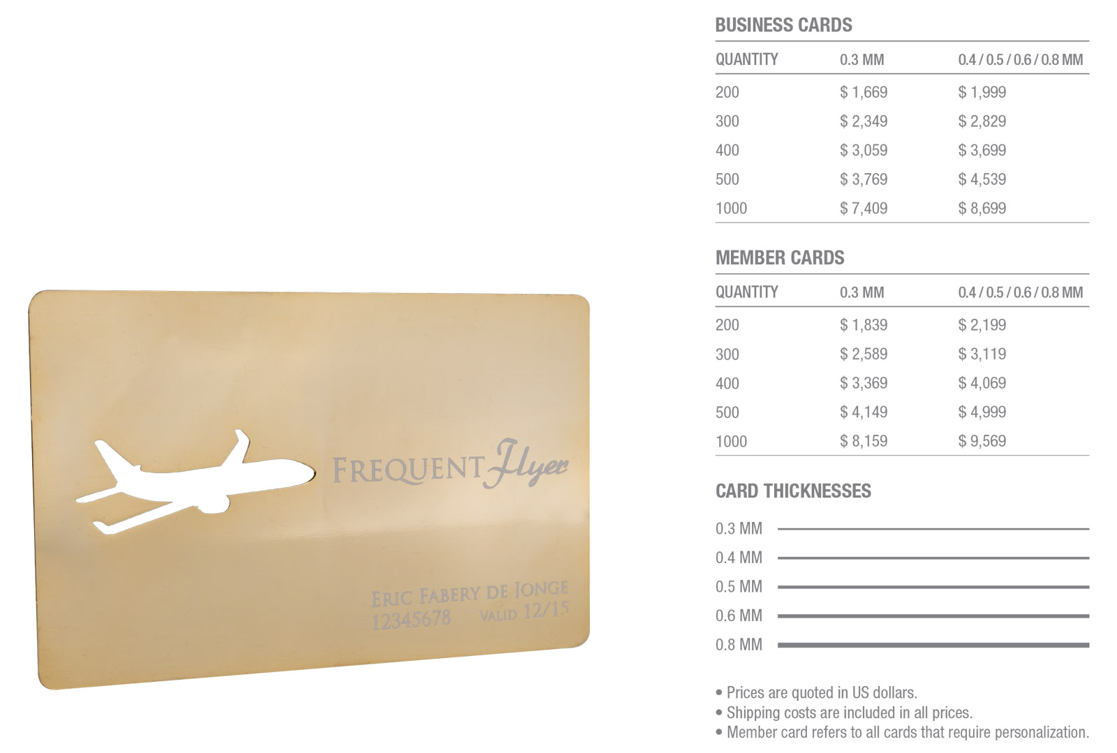 Gold-Plated-Stainless-Steel-Cards-Pricing-Table