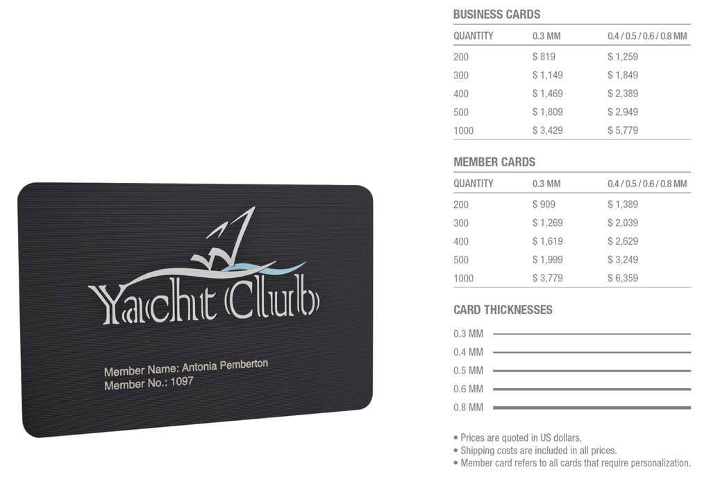 Matt Black Contour Stainless Steel Cards