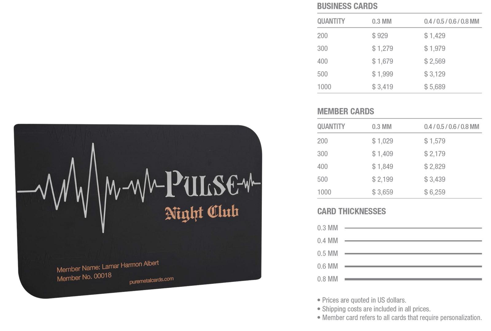 Matt-Black-Copper-Cards-Pricing-Table