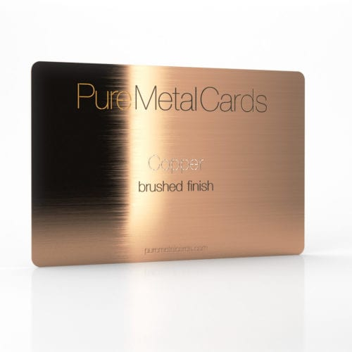 Pure Metal Cards brushed copper card