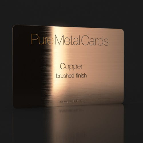 Pure Metal Cards brushed copper business card