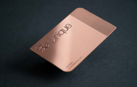 Pure Metal Cards copper mirror card