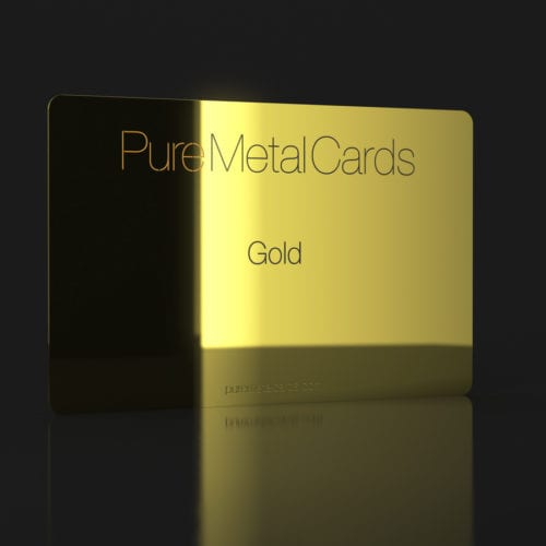 Pure Metal Cards gold card