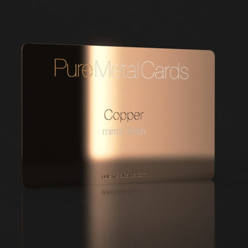 Pure Metal Cards mirror copper card