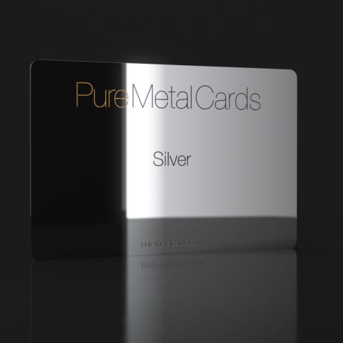 Pure Metal Cards silver card