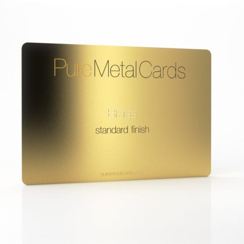 Pure Metal Cards standard brass card