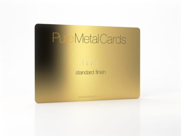 Pure Metal Cards standard brass card