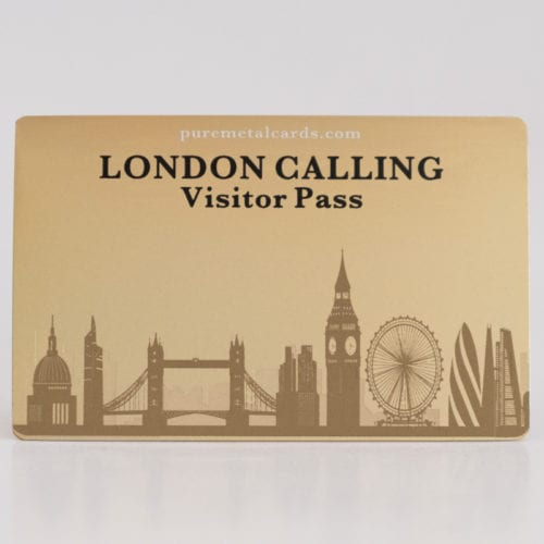 Pure Metal Cards standard brass visitor card