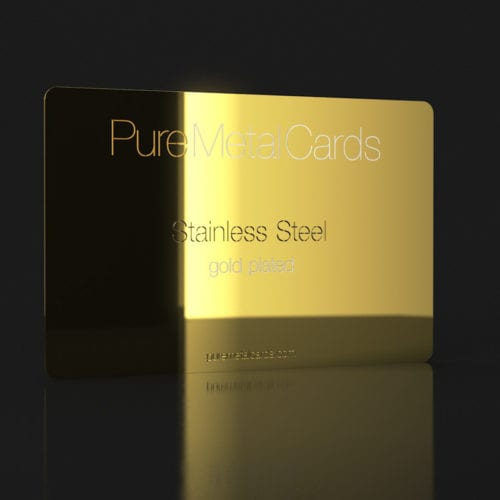 Pure Metal Cards_gold plated business card