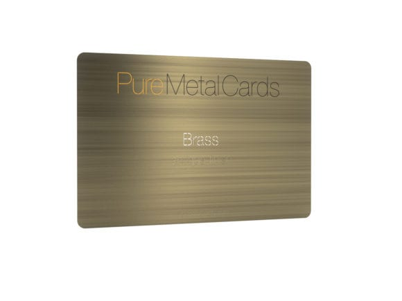 Pure Metal Cards - antique brass metal business card
