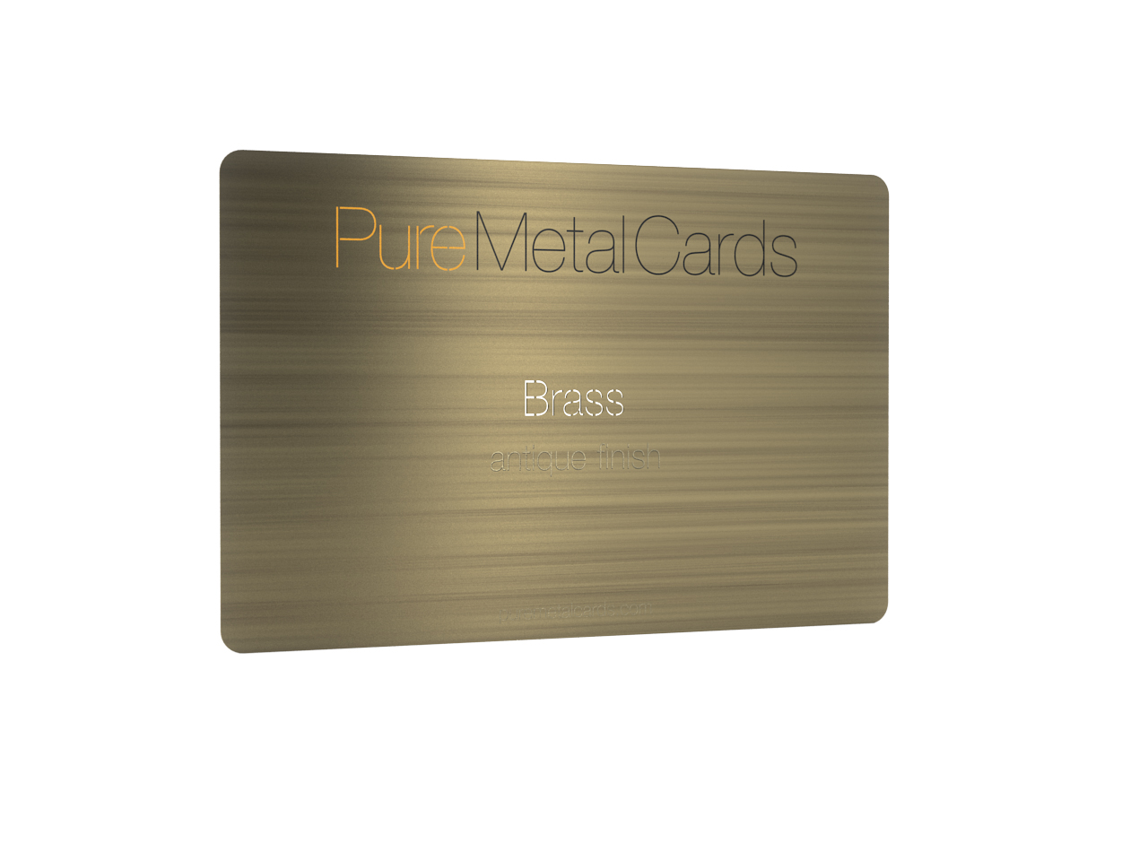 Brass (Gold) Antique Cards