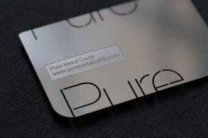 Pure Metal Cards business cards