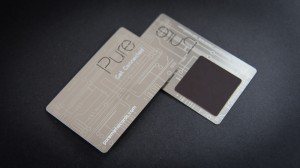 Pure Metal Cards - magnet metal card
