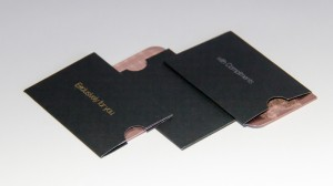 Pure Metal Cards card sleeve packaging