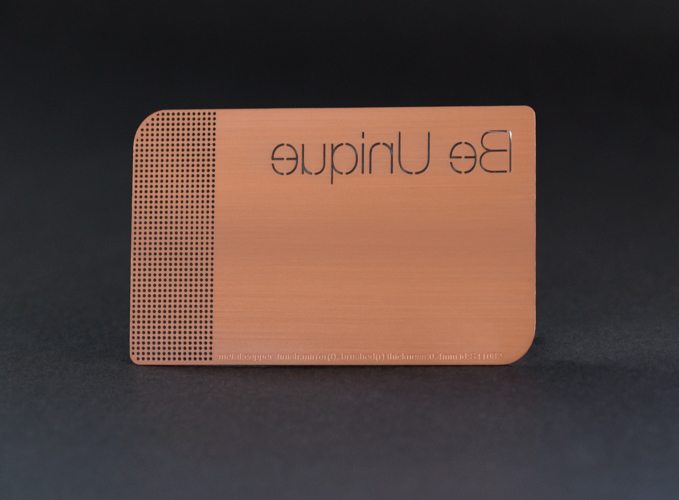 Be Creative with Copper Metal Cards – Membership Cards Design