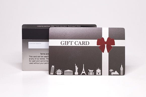 Metal Gift Cards