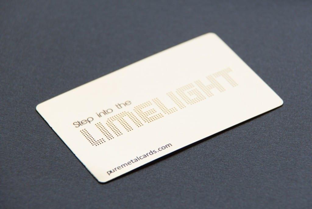 Brass Contour Business Cards
