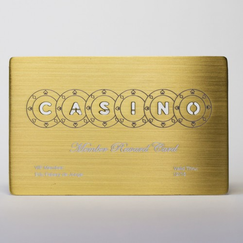 Brass (Gold) Brushed Cards