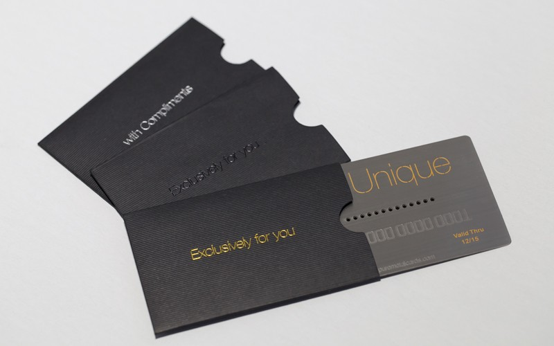 pliment your metal card with luxury card sleeves
