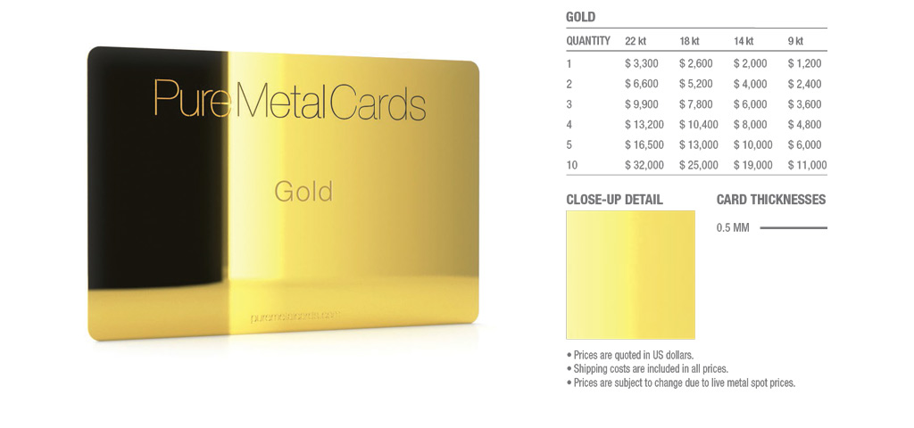 Gold cards colourmoves
