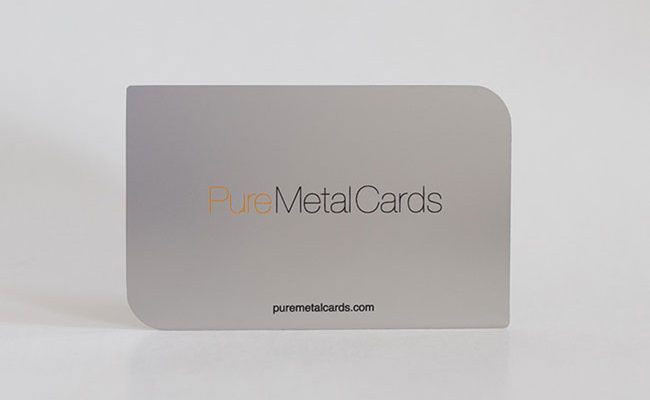 Pure metal cards be unique business cards membership cards reheart Image collections