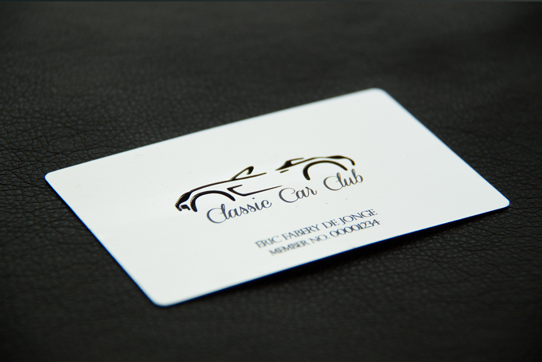 Silver Plated Metal Business Cards