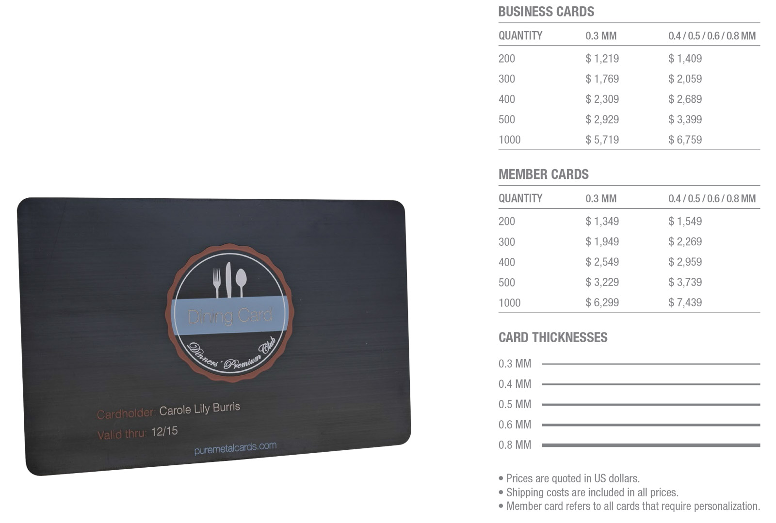 Matt-Black-Brushed-Stainless-Steel-Cards-Pricing-Table