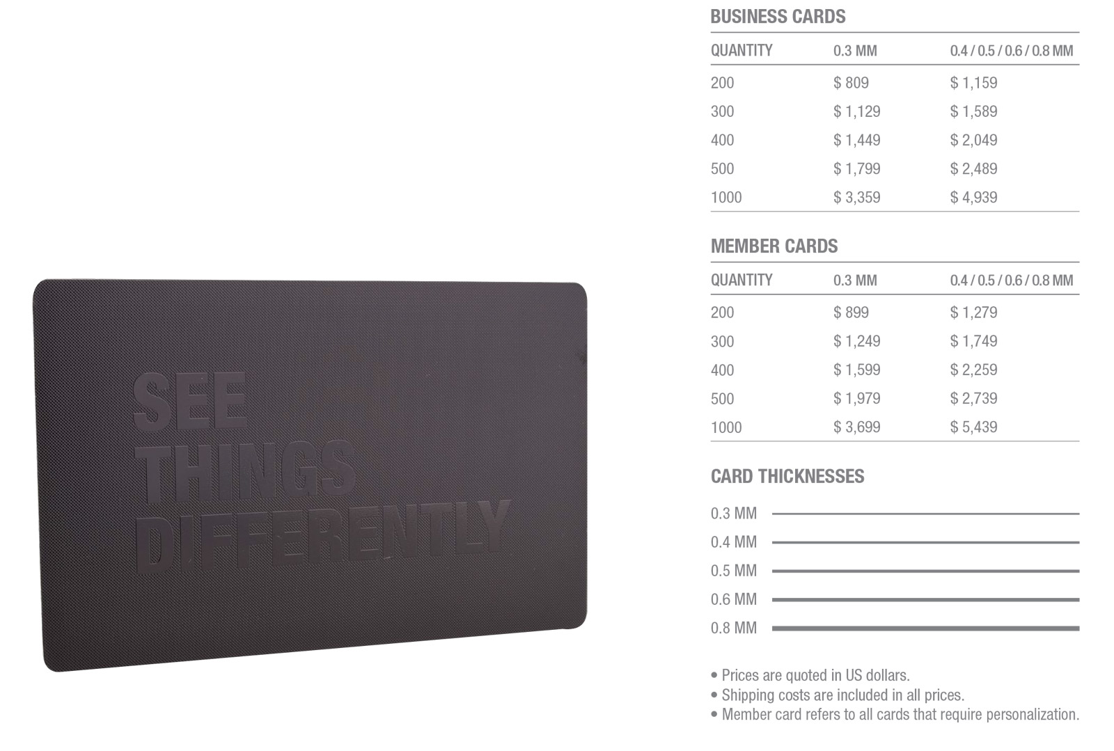 Matt-Black-Prism-Stainless-Steel-Cards-Pricing-Table