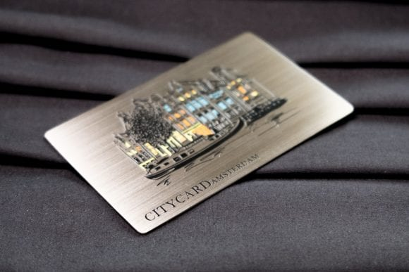 Pure Metal Cards brushed steel NFC travel card