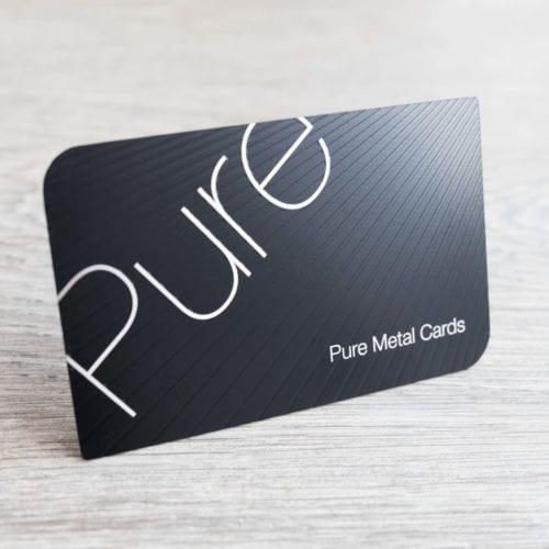 Pure Metal Cards matt black stainless steel business card-2