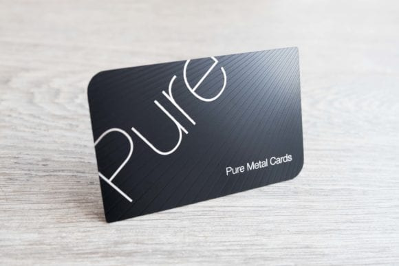 Pure Metal Cards matt black stainless steel business card-2