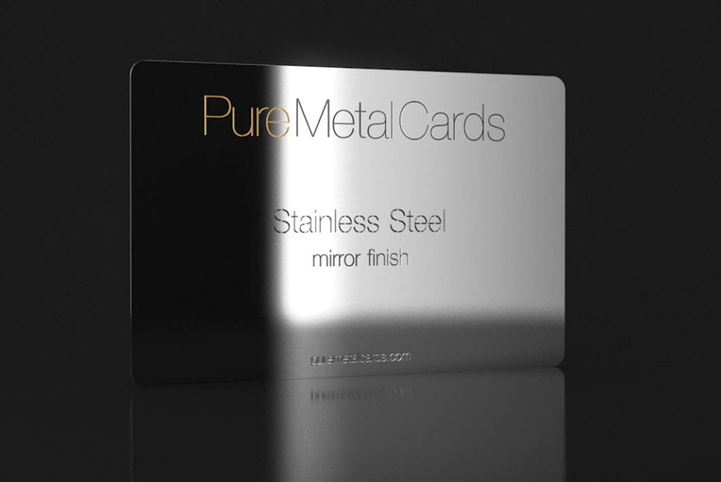 Stainless Steel White Business Cards