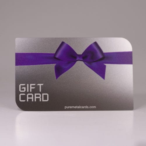 Pure Metal Cards standard stainless steel gift voucher card