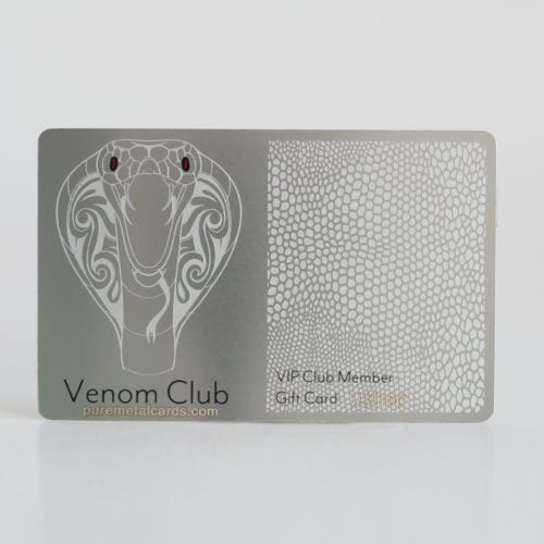 Pure Metal Cards standard stainless steel membership card
