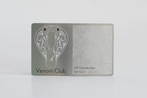 Pure Metal Cards standard stainless steel membership card