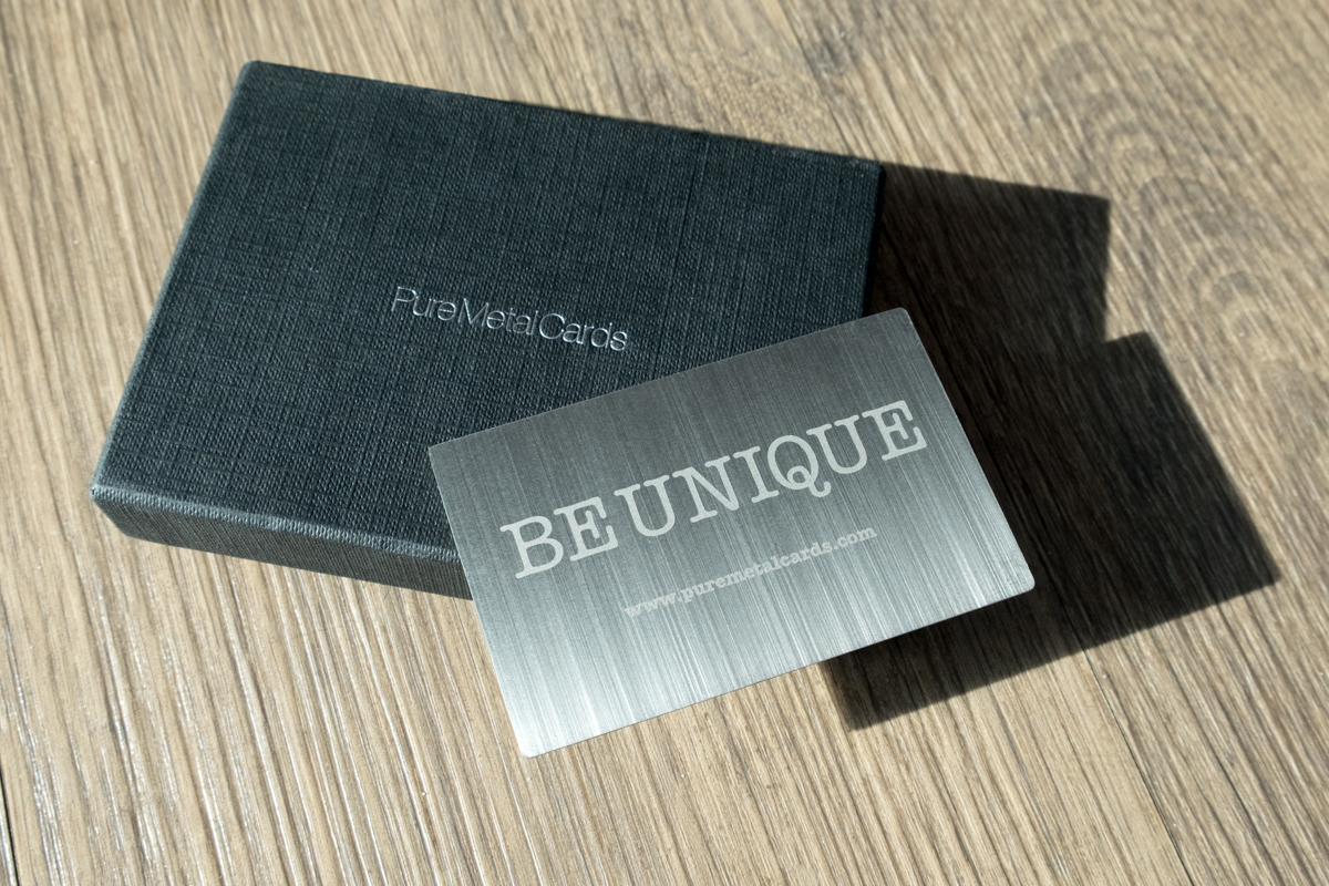 Brushed Stainless Steel Cards