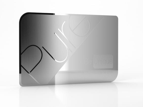 Pure Metal Cards - be unique - etched metal mirror business cards