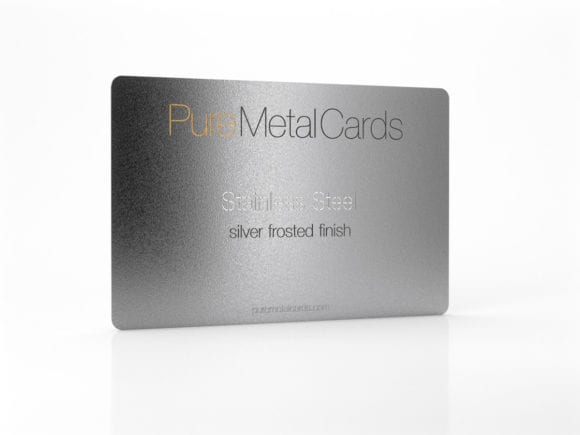Pure Metal Cards_Stainless Steel silver frosted card