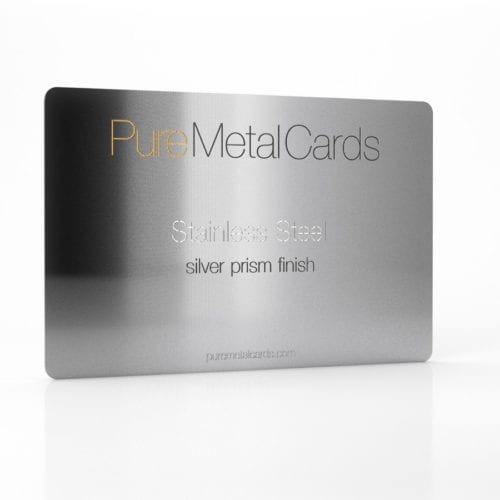 Pure Metal Cards_Stainless Steel silver prism card