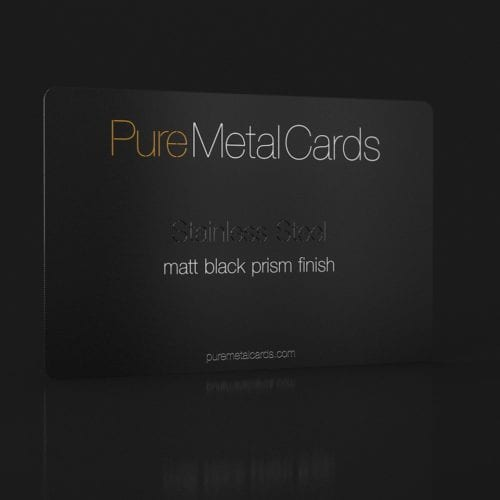 PureMetalCards_SS matt black prism